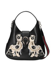 Gucci Dionysus Embroidered Large Leather Hobo Women Leather Nylon Metal Microfibre One Size Black