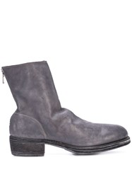 Guidi Zipped Boots Grey