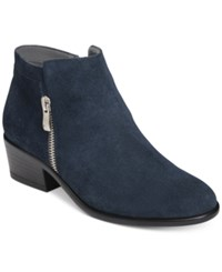 Aerosoles Mythology Booties Women's Shoes Dark Blue Suede