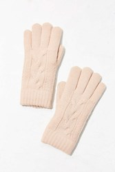 Urban Outfitters Braided Plush Knit Glove Pink