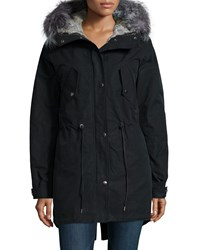 Andrew Marc New York 3 N 1 Parka W Removable Fur Liner Black Women's