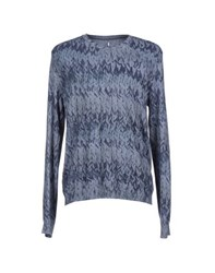 Asola Knitwear Jumpers Men Slate Blue