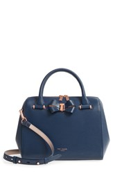 Ted Baker London Small Bowsiia Leather Bowler Bag Blue Navy