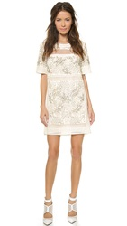 Rebecca Taylor Embellished Dress Porcelain