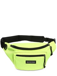 Balenciaga Logo Nylon Belt Bag Green