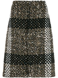 Gianluca Capannolo Woven Midi Skirt Brown