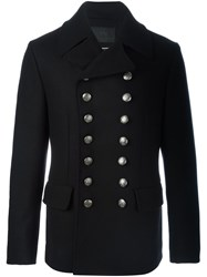 Dolce And Gabbana Military Button Peacoat Black