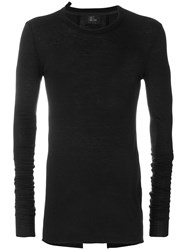 Lost And Found Ria Dunn Classic Knitted Top Men Polyamide Viscose Angora Wool Xxs Black