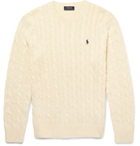Polo Ralph Lauren Cable Knit Cotton Sweater Cream