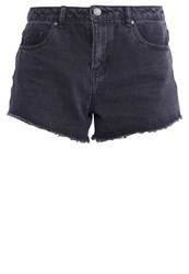 Noisy May Nmbe Liv Denim Shorts Black