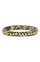 Women's L. Erickson 'Little Susie' Studded Bangle Onyx Gold