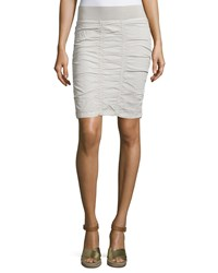 Xcvi Heliconia Ruched Pencil Skirt Gray Stone