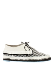 Sophia Webster Bonita Striped Leather Lace Up Shoes