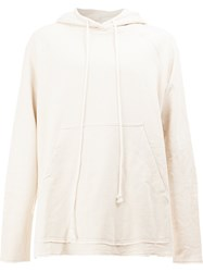 Song For The Mute Back Print Hoodie Nude And Neutrals