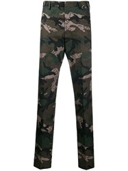 Valentino Vltn Camouflage Trousers Green