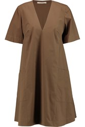 Etro Stretch Cotton Poplin Dress Brown