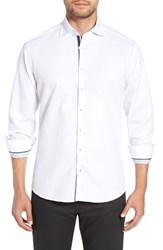 Stone Rose Contemporary Fit Waffle Texture Sport Shirt White