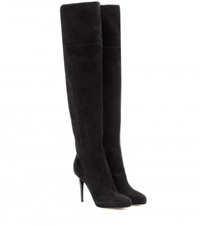 Jimmy Choo Gypsy Sue Suede Over The Knee Boots Black
