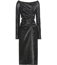Marc Jacobs Ruched Satin Dress Black