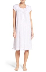 Eileen West Women's Jersey Nightgown White Floral