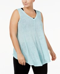 Calvin Klein Performance Plus Size Relaxed Fit Tank Top Jamaica Blue