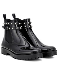 Red Valentino Embellished Chelsea Boots Black