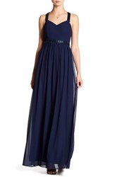 Minuet Beaded Strap Maxi Dress Blue