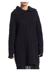 Christian Dior Cashmere And Mohair Sweater Navy