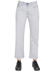 Calvin Klein Jeans High Rise Straight Cropped Cotton Denim