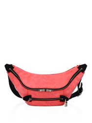 Alexander Wang Padlock Leather Fanny Pack Coral