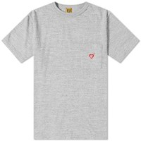Human Made Back Print Pocket Tee Grey