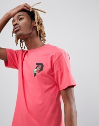 Primitive T Shirt With Rose Logo Back Print In Pink