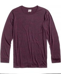 32 Degrees Men's Base Layer Crew Neck Shirt Bordeau