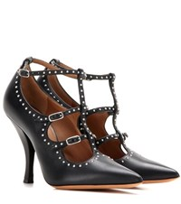Givenchy Elegant Embellished Leather Pumps Black