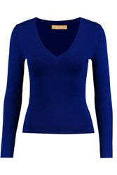 Michael Kors Collection Cashmere Sweater Royal Blue