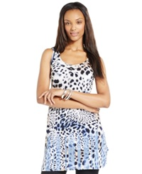 Style And Co. Grommet Embellished Printed Tunic Leopard Scarf