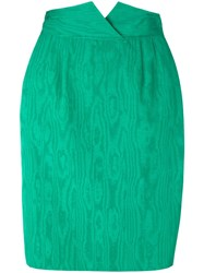 Christian Dior Vintage Pencil Skirt Green