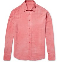The Elder Statesman Cotton Gauze Shirt Coral