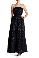 Tracy Reese Strapless Maxi Gown Black