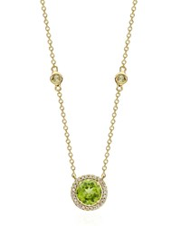 Kiki Mcdonough Grace Green Peridot And Diamond Necklace