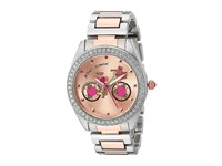 Betsey Johnson Bj00611 17 Two Tone Rose Inner Face Rose Gold Silver Watches