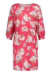 Betty And Co. Floral Print Dress Dark Pink