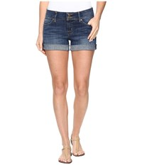 Hudson Croxley Mid Thigh Jean Shorts In Adventageous Adventageous Women's Shorts Blue