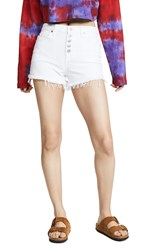 7 For All Mankind High Waist Shorts White Runway