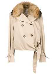 Each X Other Fur Collared Jacket Neutrals