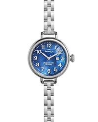 Shinola The Birdy Mother Of Pearl Dial Watch 34Mm Blue