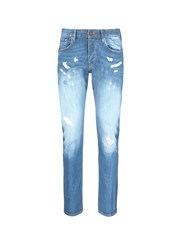 Scotch And Soda 'Lot 22 Ralston' Distressed Slim Fit Jeans Blue
