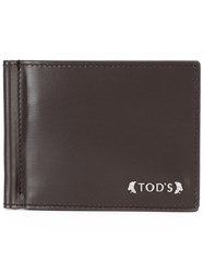 Tod's Money Clip Wallet Men Calf Leather One Size Brown