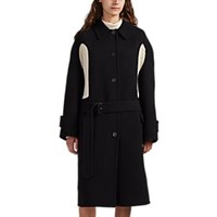 J.W.Anderson Knit Inset Wool Cashmere Coat Black