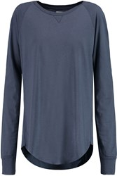Zoe Karssen Cotton And Modal Blend Top Blue